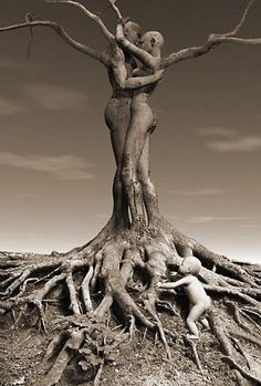 Tree of Life - In the arms of a lover, entwined like the branches of every moment, in a smile.