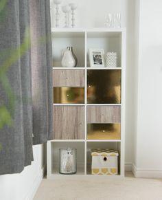 17 Best Ikea Kallax Units Decorated Using Sticky Back