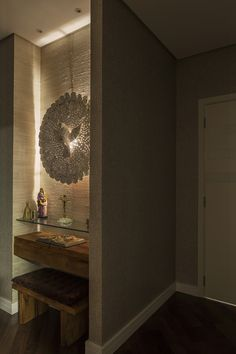 Home Altar Catholic, Home Decor Bedroom, Living Room Decor, Altar Design, Pooja Room Door Design, Prayer Corner, Mediterranean Style Homes, House Front Design, Pooja Rooms