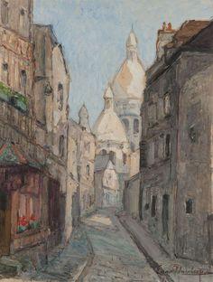 Eugène SCHLUMBERGER (1879-1960), Rue à Montmartre