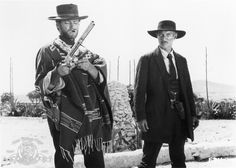 Still of Clint Eastwood and Lee Van Cleef in For a Few Dollars More