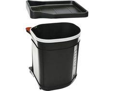 Einbau-Abfallsammler Piccante Swing 17 Liter schwarz