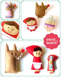 Ovejita Be Little Red Riding Hood brooches