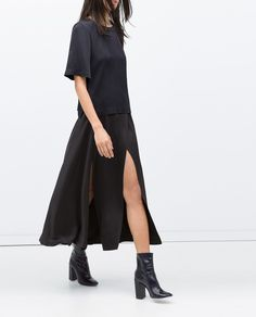 This sexy Zara Long Studio Skirt With Slits ($129) can easily go from day to night.