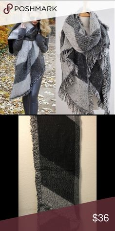 New Arrival Gorgeous Gray Pashmina Blanket Scarf New in package large blanket scarf. Get ready for fall. Gorgeous! Boutique Accessories Scarves & Wraps