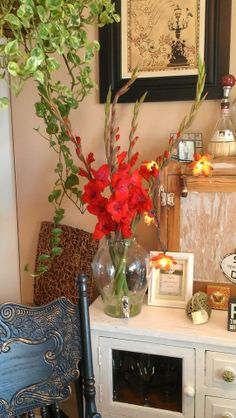 PASSIONATE RED-I love the shape of the stems and how the flower blooms in time to the top