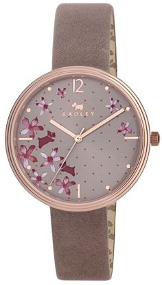 Radley Ladies Rosemary Gardens Floral Dial Pink Leather Strap Watch - Sport Watches - Ideas of Sport Watches - Radley Ladies Floral Dial Pink Leather Strap Watch Trendy Watches, Cute Watches, Watches For Men, Nixon Watches, Cheap Watches, Sport Watches, Swiss Army Watches, Beautiful Watches, Pink Leather
