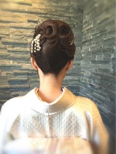 Bun Hairstyles, Wedding Hairstyles, Updo Styles, Hair Styles, French Twists, Hair Arrange, Japanese Hairstyle, Hair Reference, Perm