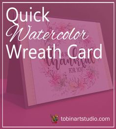Join me for another YouTube video where I show you how to create a Thankful Watercolor Wreath using Art Impressions Stamps and Gina K Designs products. Watercolor Christmas Cards, Watercolor Cards, Art Impressions Stamps, Wreath Watercolor, Watercolour Tutorials, Wreath Tutorial, Christmas Colors, Stationary, Card Making
