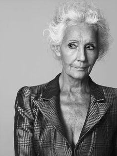 Lancome calls Masters Modeling in France  to make sure the senior model they are sending over has not had botox or plastic surgery - Francoise de Stael 82-year-old model is sent!