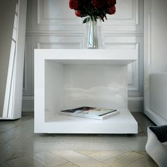 The Modloft Ludlow Nightstand is a cube-shaped modern nightstand that features a shelf at both floor and top levels to accommodate convenient storage and displa Nightstand Set Of 2, Metal Nightstand, Bedside Drawers, Nightstand Ideas, Floating Nightstand, Living Room End Tables, Bedroom Night Stands, Night Stands Ikea, Modern Side Table
