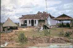 Unit Name: Bravo Co 1/28th 1st Inf Div  Shelled out Buddist Temple (bughouse) Phu Loi Vietnam