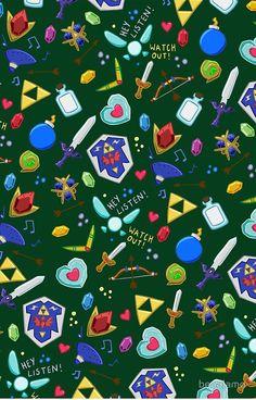legend of zelda pattern (tumblr) Iphone wallpaper zelda