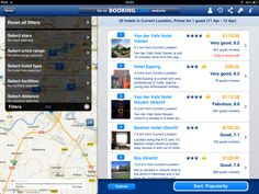 Loads of persuasion details in the Booking.com iPad app
