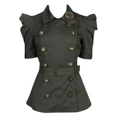 Military style jacket by Belgian designer Ann Demeulemeester
