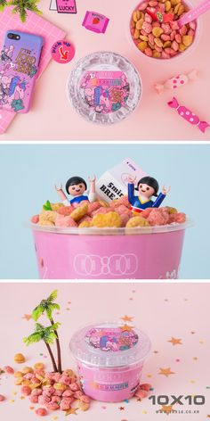 Photographer_BORI.LEE Stylist_MINYOUNG.OH #tenbyten #10x10 #텐바이텐 #핑크 #시리얼 #cereal #핑크전 #미드나잇인서울 #midnightinseoul #playmobil #meal #pink