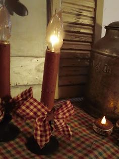 HOW TO.......turn those cheapo plastic candles into this primitive piece.