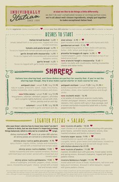 zizzi pdf 011 35 Beautiful Restaurant Menu Designs