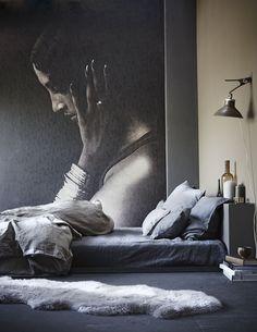 Purple Area: Varför inte en fototapet i sovrummet
