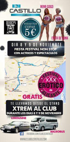 Festival Erótico de Alicante Club, Alicante, Movie Posters, Movies, Castles, Fiestas, Actresses, 2016 Movies, Film Poster