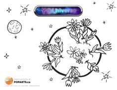 #YOUniverse #coloring page for #kids. #Crafts!