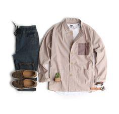 활용성좋은 오버핏 셔츠 겸용 자켓-jacket18 - [존클락]30대 남자옷쇼핑몰, 깔끔한 캐쥬얼 데일리룩, 추천코디