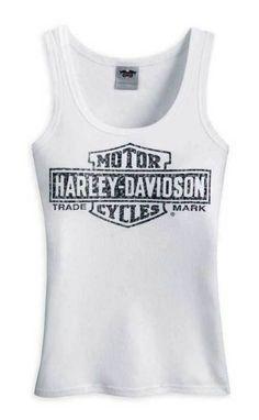 Patriots Harley Davidson White Tank Top