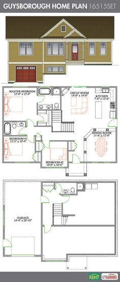 Lincoln 3 bedroom 2 bathroom lincoln home plan features for House plans with separate kitchen