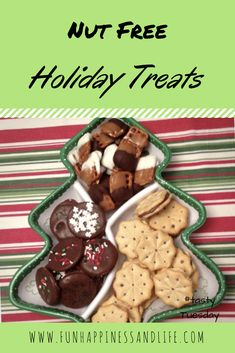 Nut free holiday treats are easy and fun to make with the kids. These Christmas notions are delicious sweet and salty.