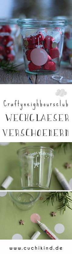 craftyneighboursclub - Weihnachten im Glas - Farm House Decor Diy Christmas Gifts, Christmas Crafts, Christmas Decorations, Gift Tags, Free Printables, Mason Jars, Projects To Try, Artec, Glass Paint