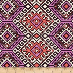 Amy Butler Hapi Camel Blanket Blush from @fabricdotcom  Designed by Amy Butler for Rowan/Westminster Fabrics. This fabric is perfect for quilting, apparel and home decor accents. Colors include purple, coral, hot pink and cream.