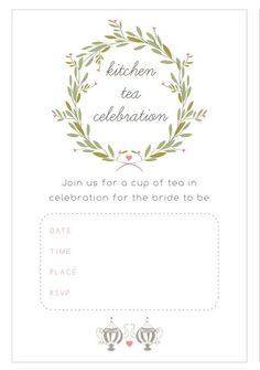 Free printable glitter bridal shower invitation templates 13 bridal shower templates that you wont believe are free kitchen tea bridal shower invitations from the pretty blog stopboris Choice Image
