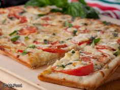 Tomato-Basil Squares | mrfood.com One of my favorites when pampered chef first started.   circa 2000