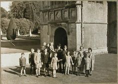 WORLD WAR II | Lanhydrock, Cornwall: 'Everilda and Violet went to collect five evacuees from Bodmin but found it hard to leave any behind hence they gave a home to all of these children.'     ✫ღ⊰n
