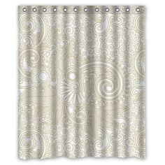 Generic Unique Elegant Paisley Design Waterproof Polyester Fabric Bathroom Custom Novelty Shower Curtain 60 X