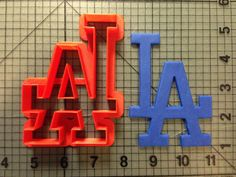 Los Angeles Dodgers Cookie Cutter by JBCookieCutters on Etsy, $4.50