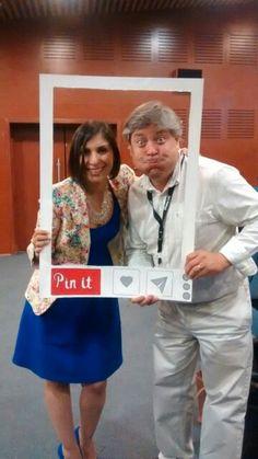Nuestros profesores Laura Silva y Max Viveros en conect@dos 2014