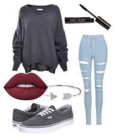 """Untitled #52"" by my-names-ella on Polyvore featuring Topshop, Bobbi Brown Cosmetics, Vans, Bling Jewelry and Lime Crime"