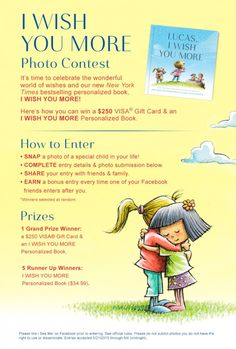 37 best i wish you more personalized book images on pinterest baby we wish you more contest its fandeluxe Images