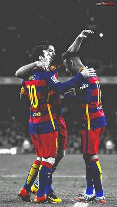 I chose this image as an option I have for the article is on the trio of Messi, Suarez and Neymar as they are scoring loads of goals together. Lionel Messi, Messi Y Cristiano, Messi And Neymar, Neymar Jr, Neymar Football, Messi Soccer, Football Fans, Neymar Barcelona, Barcelona Players
