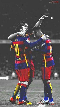 Lionel Messi, Neymar Jr. & Luis Suarez #Barcelona #FCB #MSN
