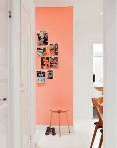 10 Idées décoration fluo – 10 ideas neon decoration - New Deko Sites Pared Color Salmon, Style At Home, Peach Walls, Coral Walls, Sweet Home, Deco Design, Home And Deco, My New Room, Home Fashion