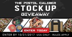 LAST DAY to Enter To Win The Pistol Caliber Stock Up Giveaway from @Ammo_Winner!  https://wn.nr/qPQZgP