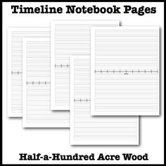 Free printable Book of Centuries and/or accordion timeline notebook with expandable pages. Includes linear timeline, nonlinear timeline, and cover pages.