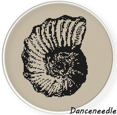 Instant  Download,Free shipping,Cross stitch pattern, PDF, fossil,shell,zxxc0862