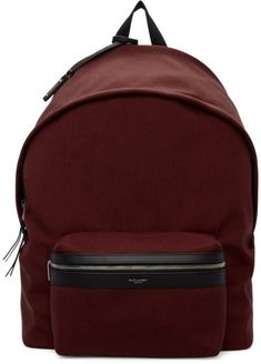 Saint Laurent Red Canvas City Backpack 02b60fb417edf
