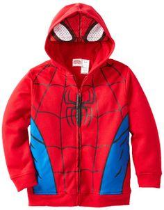 Amazon.com: Marvel Boys 8-20 Ultimate Spiderman Bugchest Hoody: Clothing