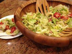 "Columbia Restaurant's ""1905"" Salad w/dressing: ham, olives, romano & swiss cheese, ice berg lettuce"