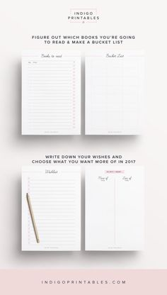 2017 New Year Workbook, 25 Printable Pages   Created by #IndigoPrintables  The New Year workbook contains a selection of purposely designed worksheets that will help you set your goals for the year and upgrade your life throughout 2017.  This printable planner kit has been designed to look elegant and sleek; and to function beautifully in your planner with enough space for hole punching on either side.   ▶︎ ▶︎ PAGES INCLUDED - This Time Next Year - 2017 Goals Mind Map - This Year - 2017…