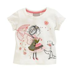 summer,T-shirt,short sleeve brand cotton girls o-neck character,white,casual - http://www.aliexpress.com/item/summer-T-shirt-short-sleeve-brand-cotton-girls-o-neck-character-white-casual/32331530519.html
